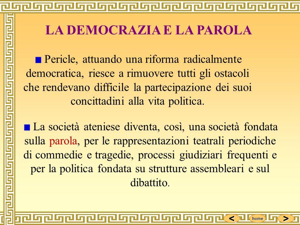 LA DEMOCRAZIA E LA PAROLA