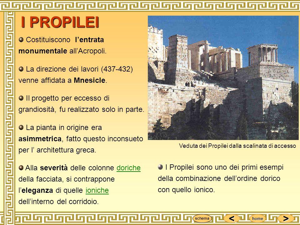 I PROPILEI Costituiscono l'entrata monumentale all'Acropoli.