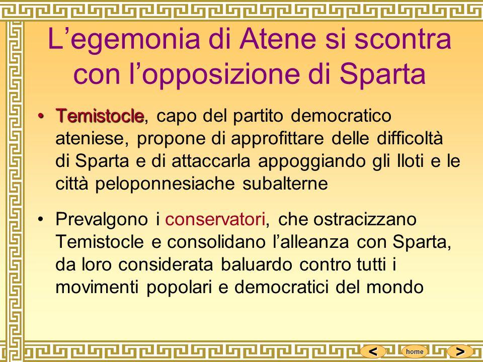L'egemonia di Atene si scontra con l'opposizione di Sparta