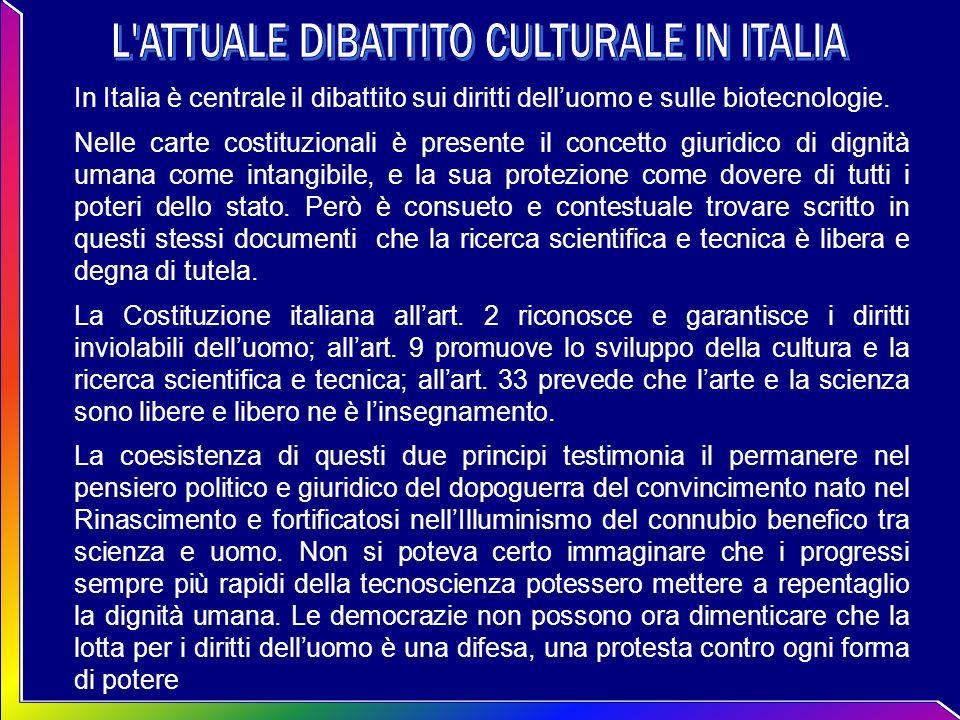 L ATTUALE DIBATTITO CULTURALE IN ITALIA