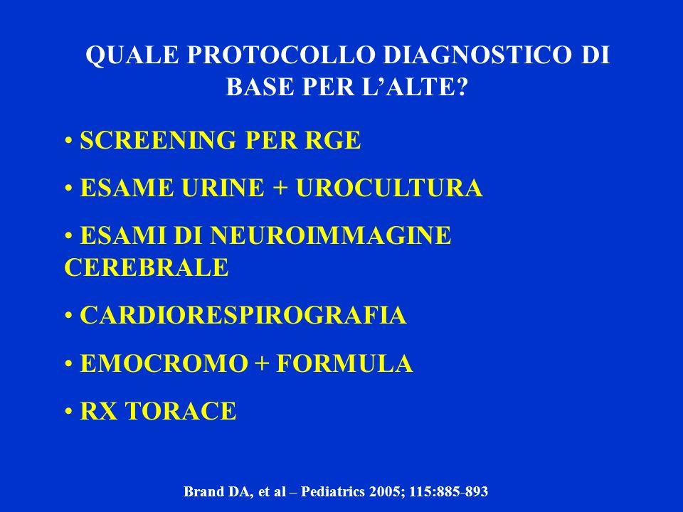 QUALE PROTOCOLLO DIAGNOSTICO DI BASE PER L'ALTE