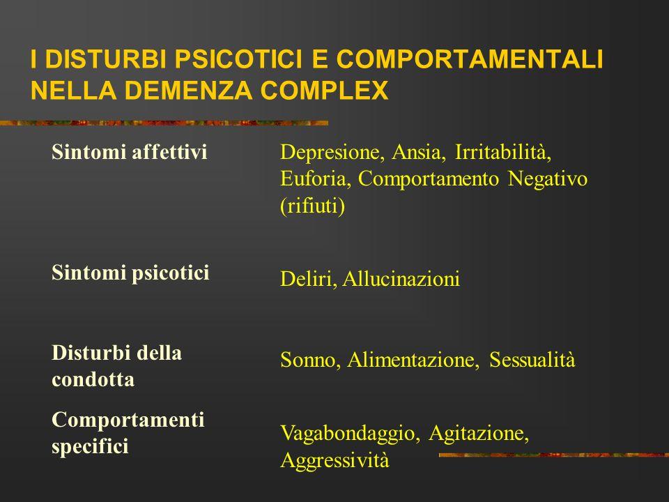 I DISTURBI PSICOTICI E COMPORTAMENTALI NELLA DEMENZA COMPLEX