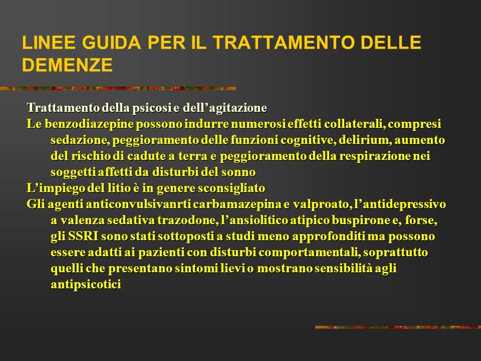 LINEE GUIDA PER IL TRATTAMENTO DELLE DEMENZE