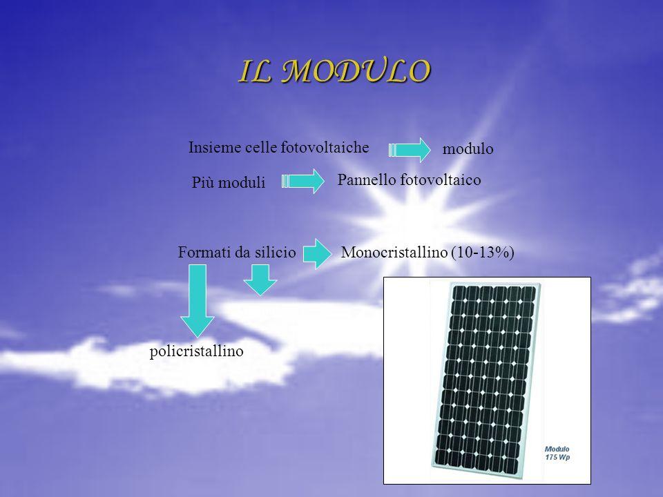IL MODULO modulo Insieme celle fotovoltaiche Più moduli
