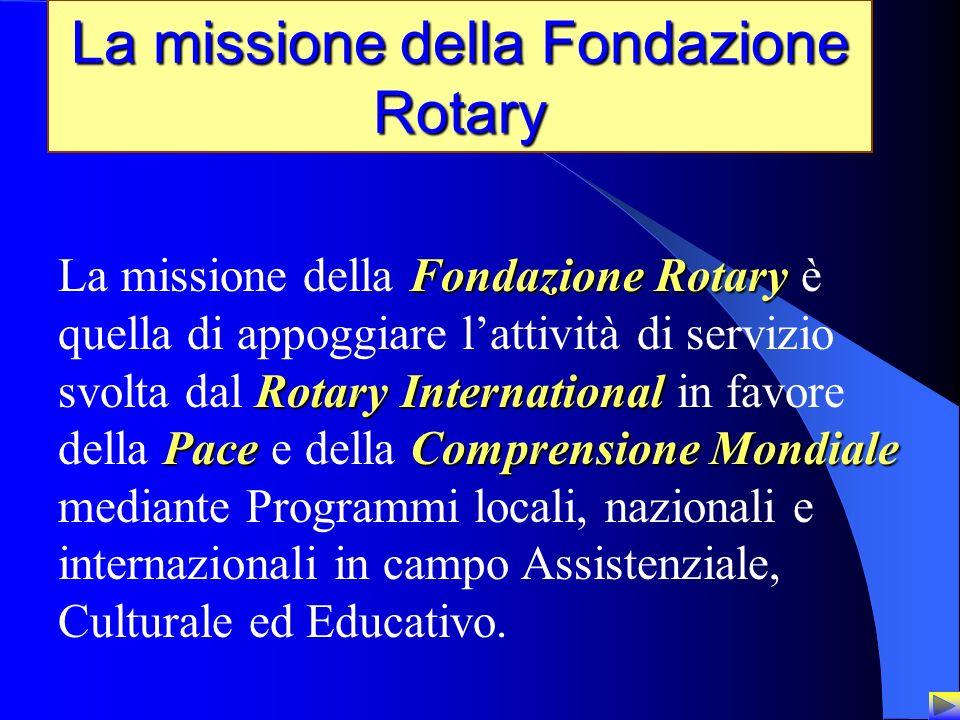 La missione della Fondazione Rotary