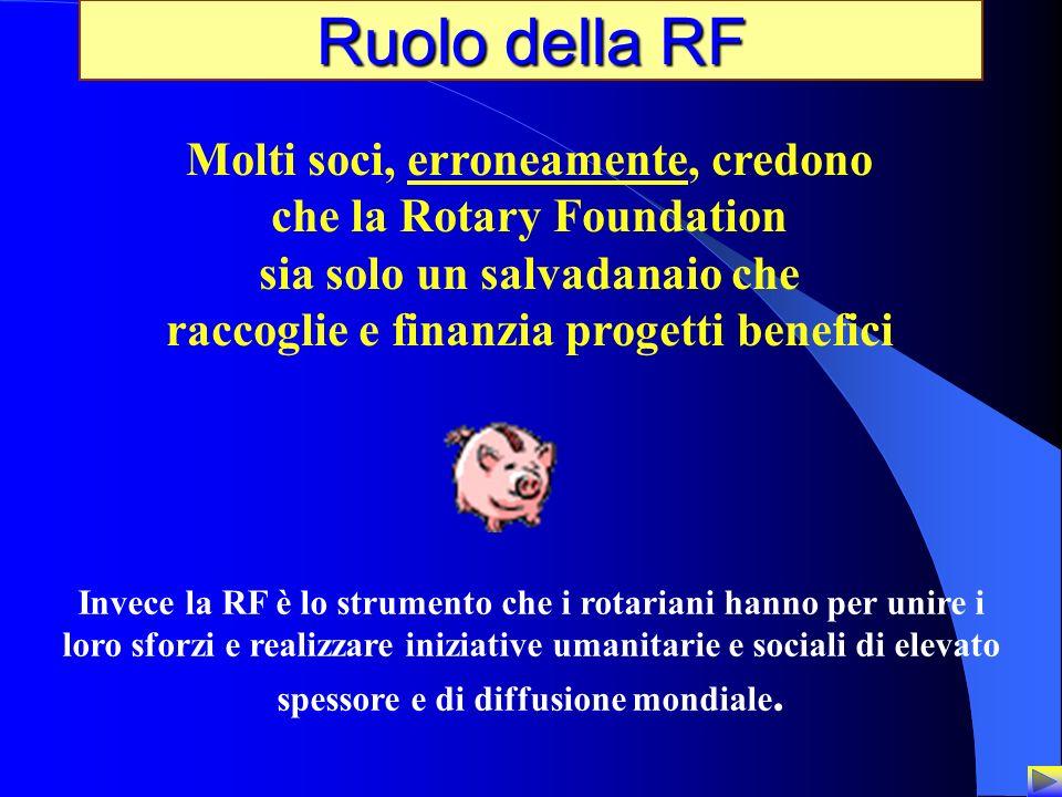 Ruolo della RF Molti soci, erroneamente, credono