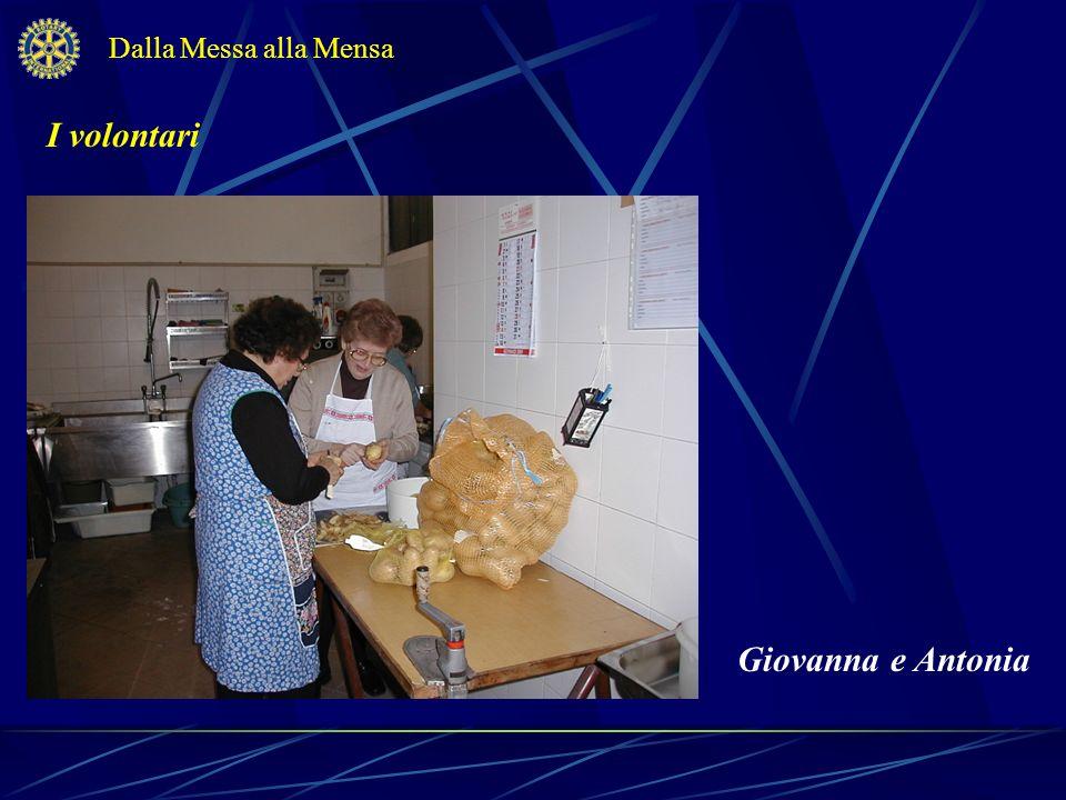 Dalla Messa alla Mensa I volontari Giovanna e Antonia