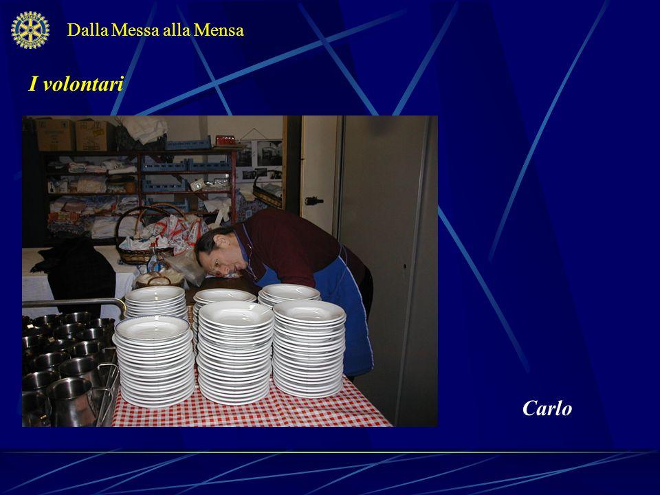 Dalla Messa alla Mensa I volontari Carlo