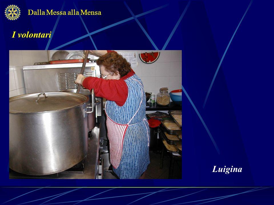 Dalla Messa alla Mensa I volontari Luigina