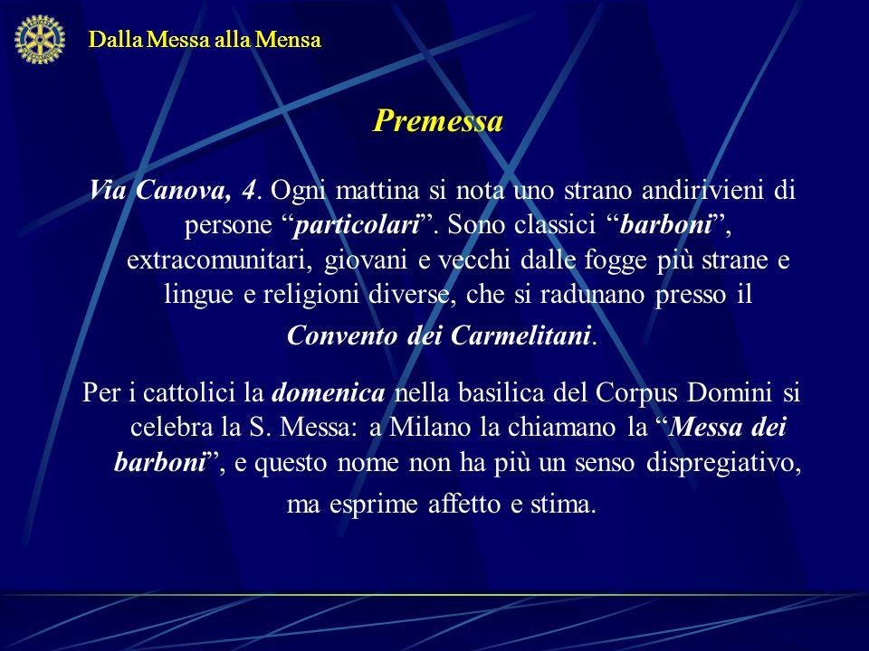 Dalla Messa alla MensaDalla Messa alla Mensa. Premessa.
