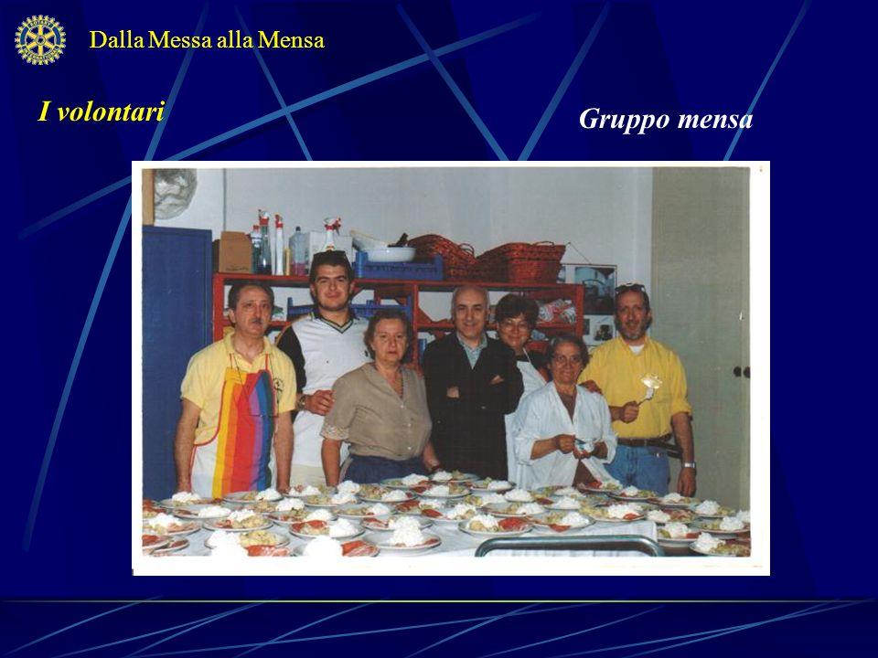 Dalla Messa alla Mensa I volontari Gruppo mensa