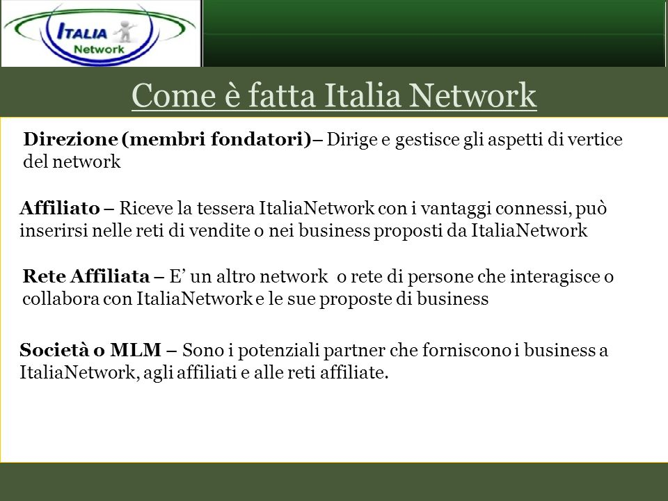 Come è fatta Italia Network