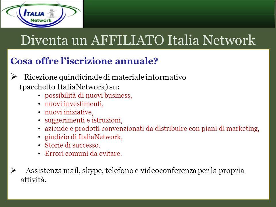 Diventa un AFFILIATO Italia Network