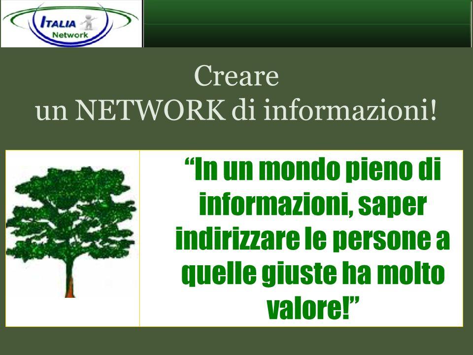 Creare un NETWORK di informazioni!