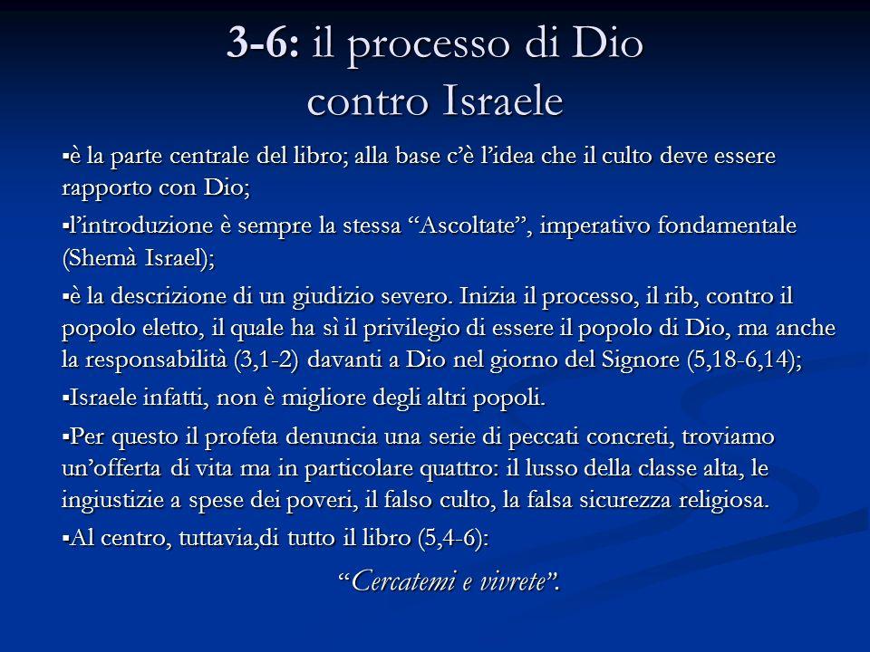 3-6: il processo di Dio contro Israele