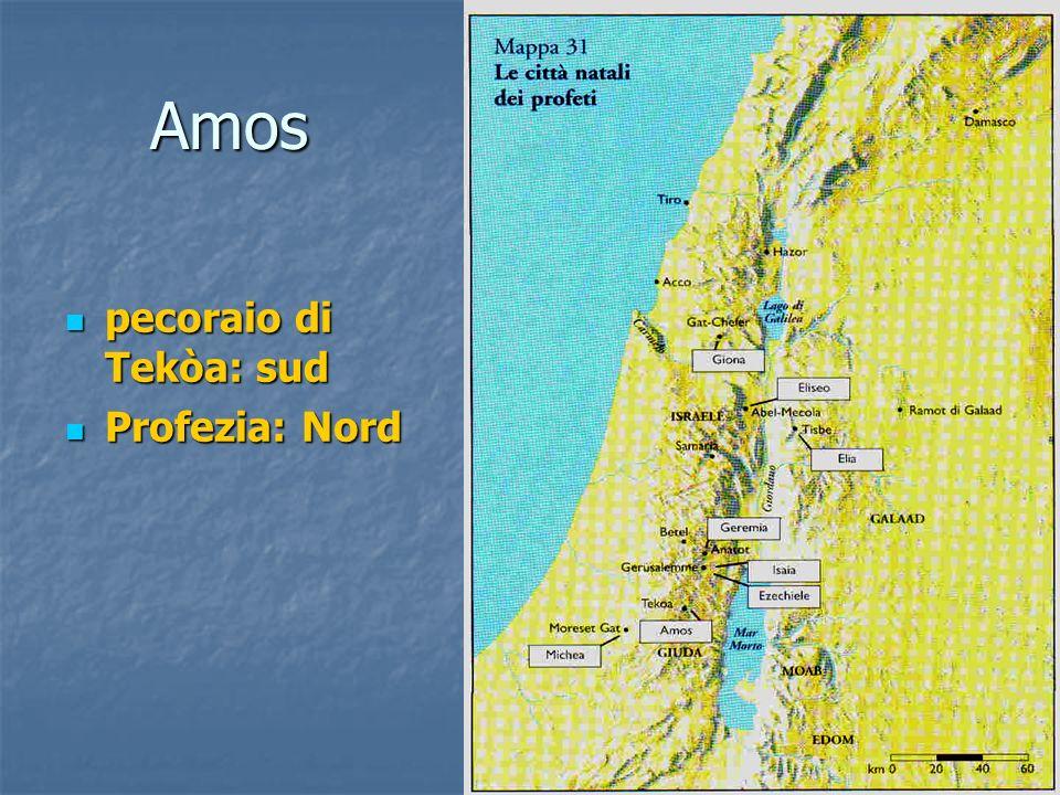 Amos pecoraio di Tekòa: sud Profezia: Nord