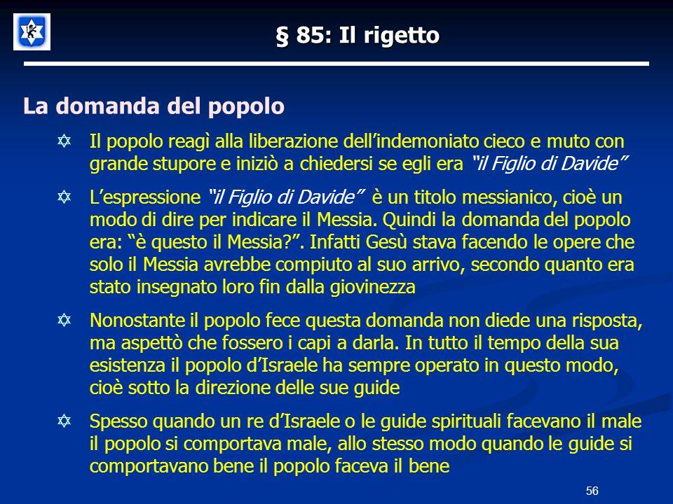 § 85: Il rigetto La domanda del popolo