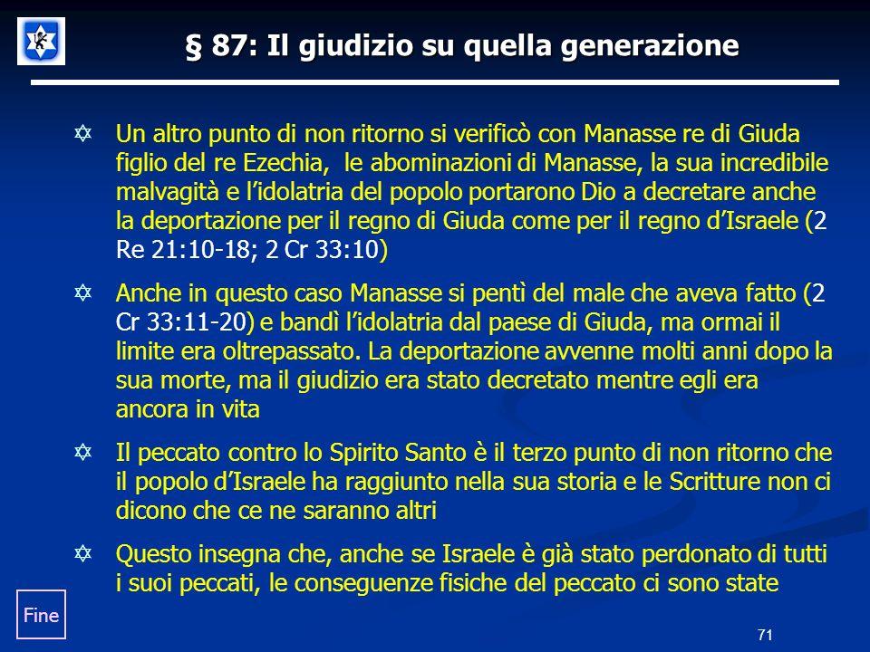 § 87: Il giudizio su quella generazione