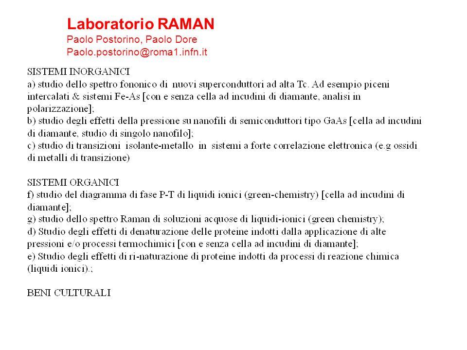 Laboratorio RAMAN Paolo Postorino, Paolo Dore