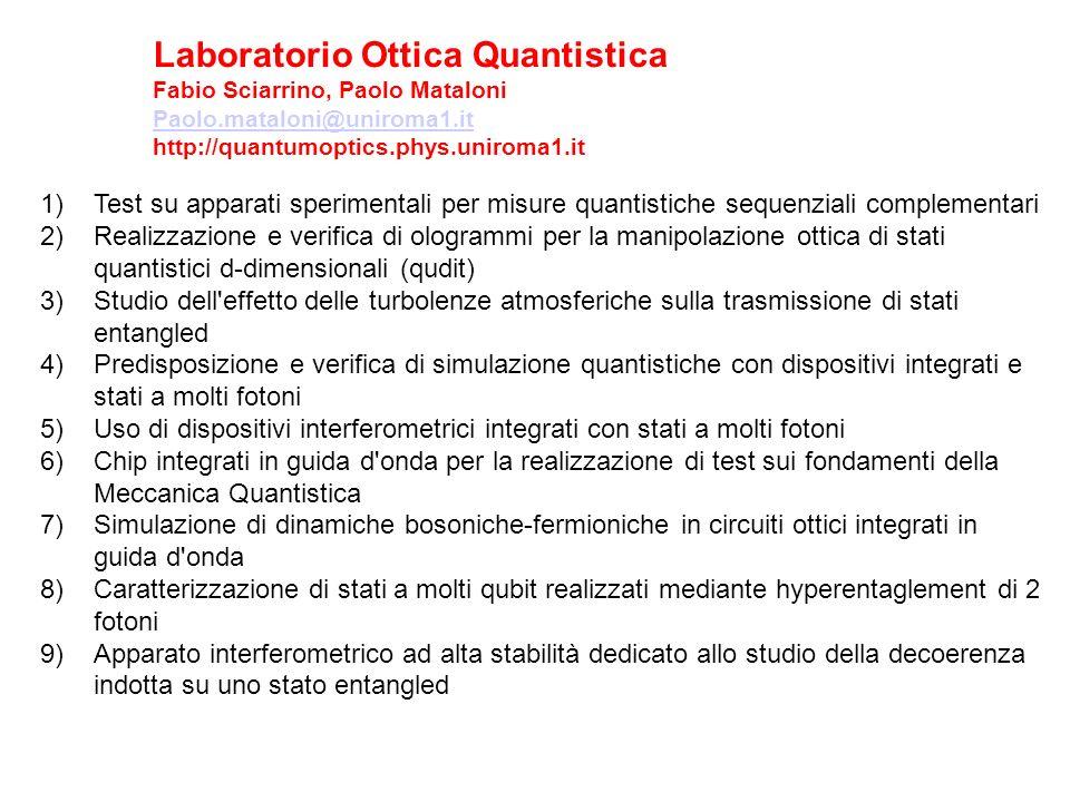 Laboratorio Ottica Quantistica