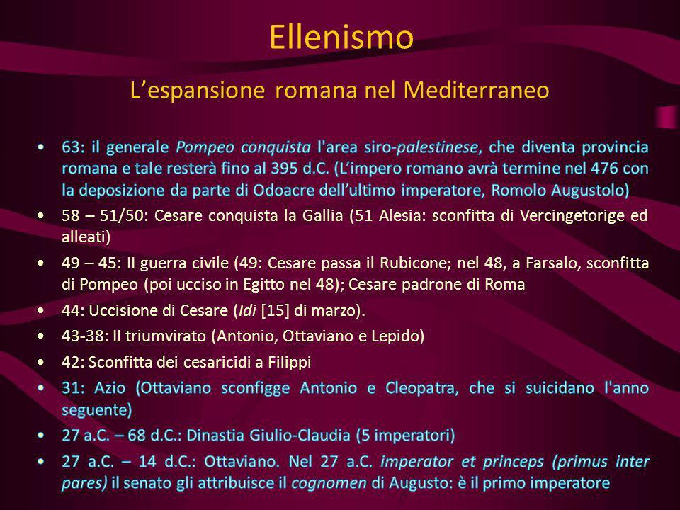 L'espansione romana nel Mediterraneo