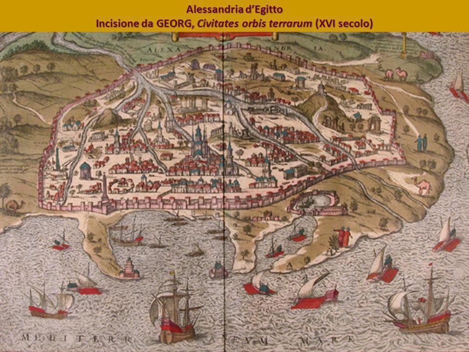 Alessandria d'Egitto Incisione da GEORG, Civitates orbis terrarum (XVI secolo)