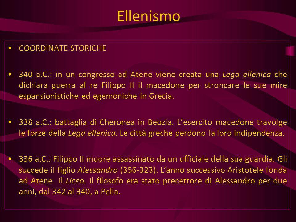 Ellenismo COORDINATE STORICHE