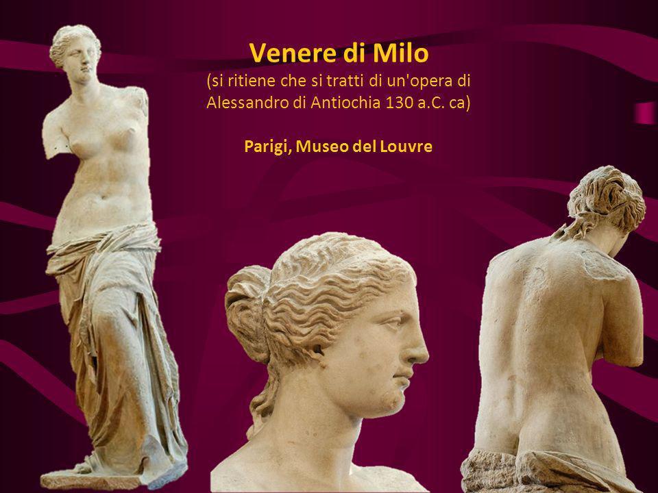 Venere di Milo (si ritiene che si tratti di un opera di Alessandro di Antiochia 130 a.C.