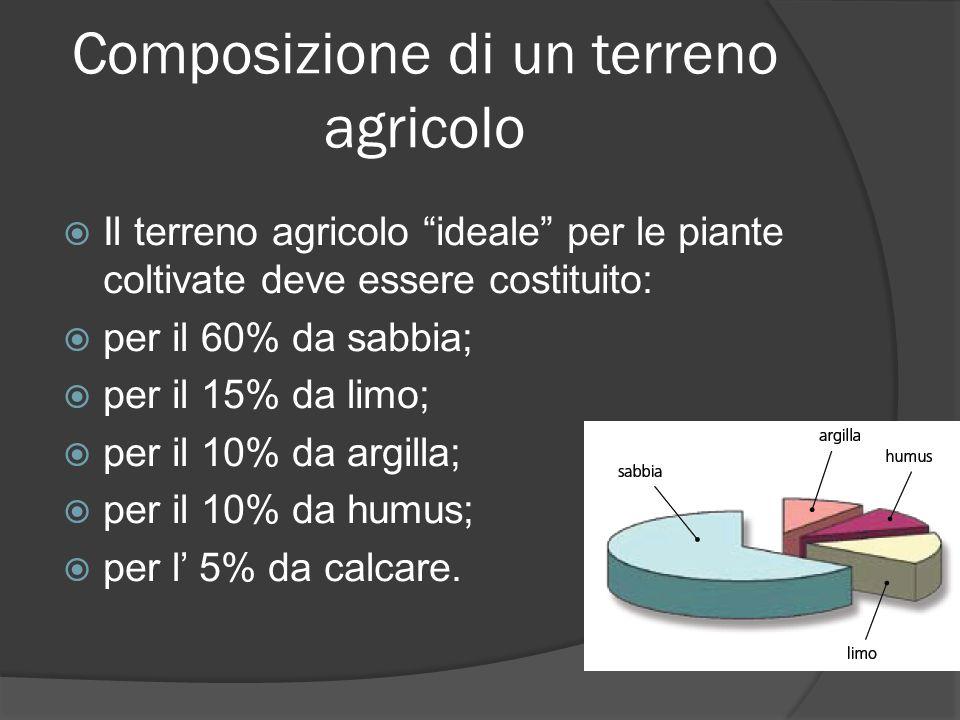 Composizione di un terreno agricolo
