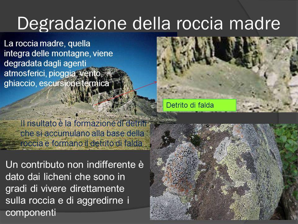 Degradazione della roccia madre