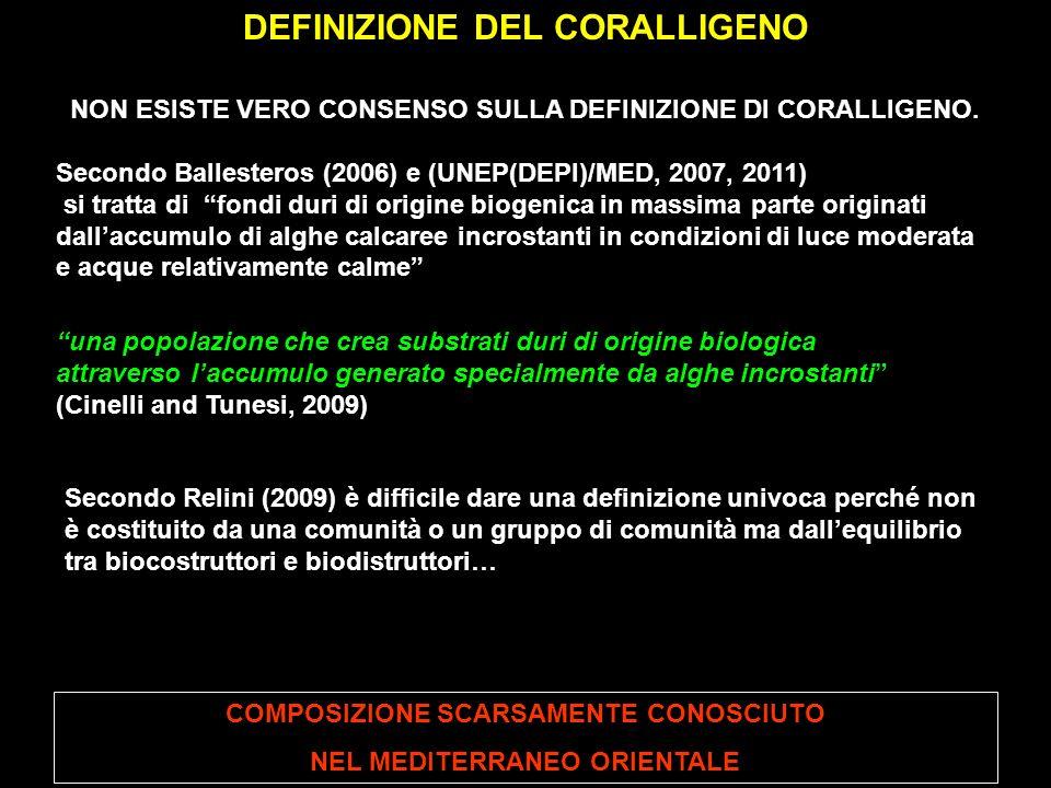 DEFINIZIONE DEL CORALLIGENO