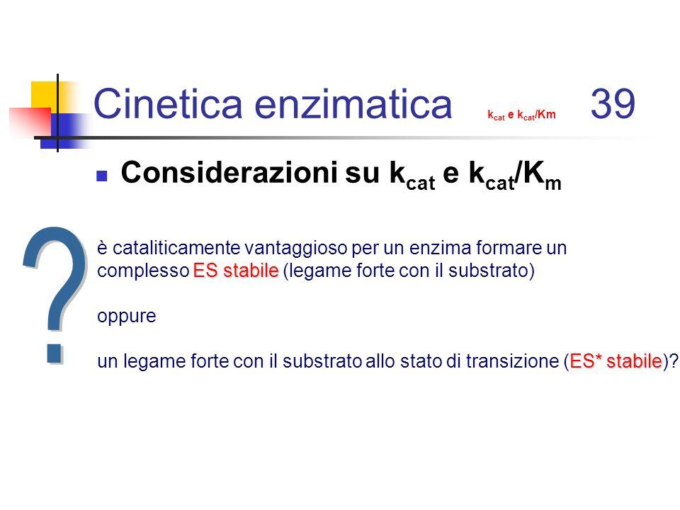 Cinetica enzimatica kcat e kcat/Km 39