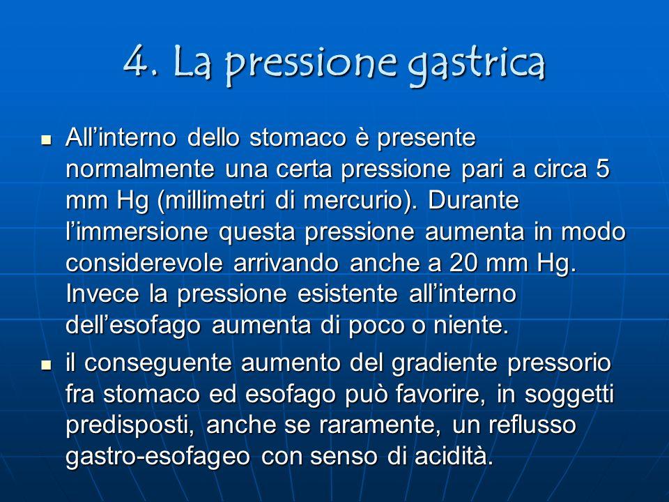 4. La pressione gastrica