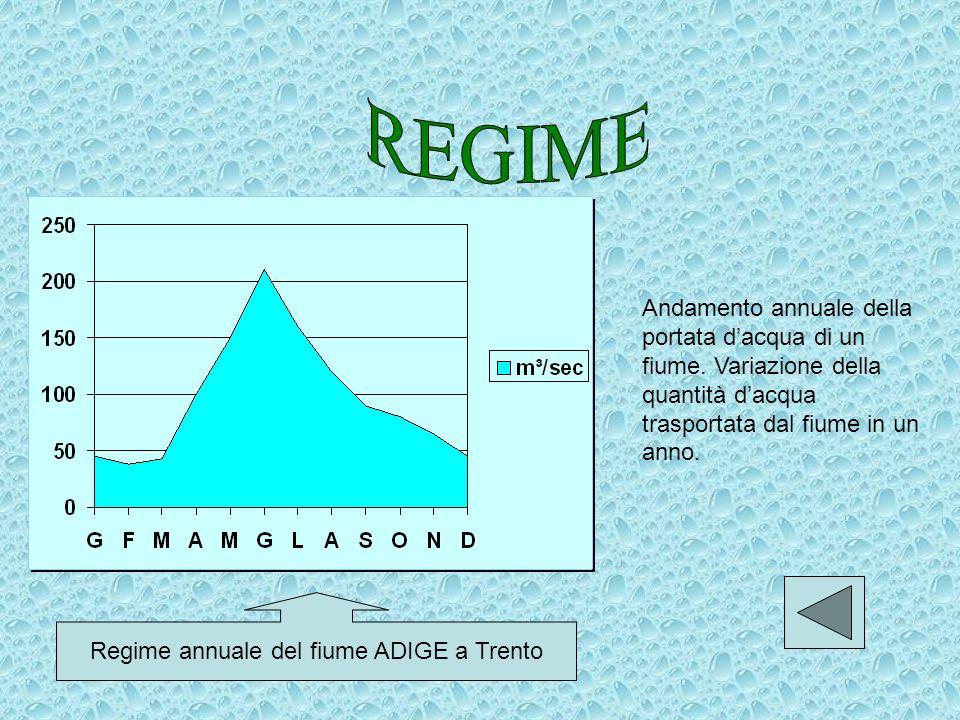 Regime annuale del fiume ADIGE a Trento