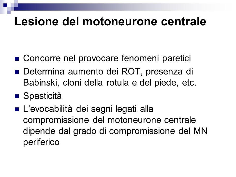 Lesione del motoneurone centrale