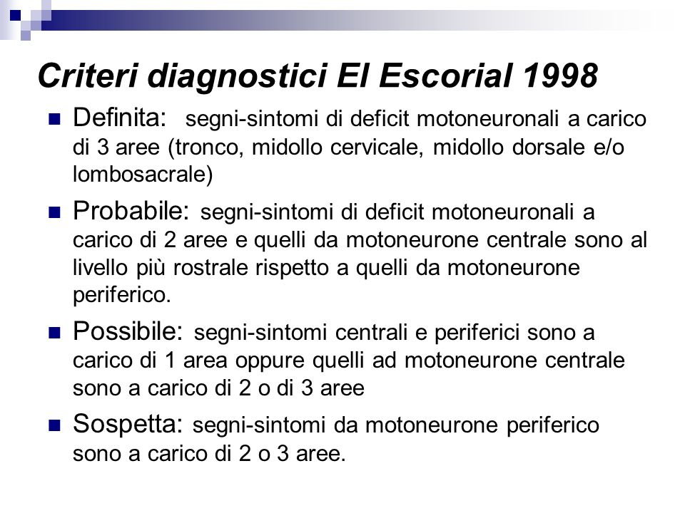 Criteri diagnostici El Escorial 1998