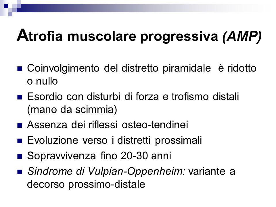 Atrofia muscolare progressiva (AMP)