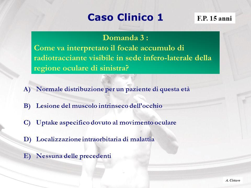 Caso Clinico 1 F.P. 15 anni. Domanda 3 :