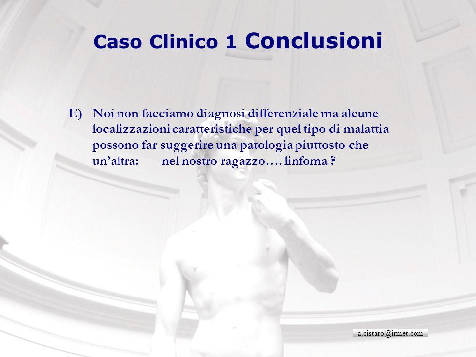 Caso Clinico 1 Conclusioni