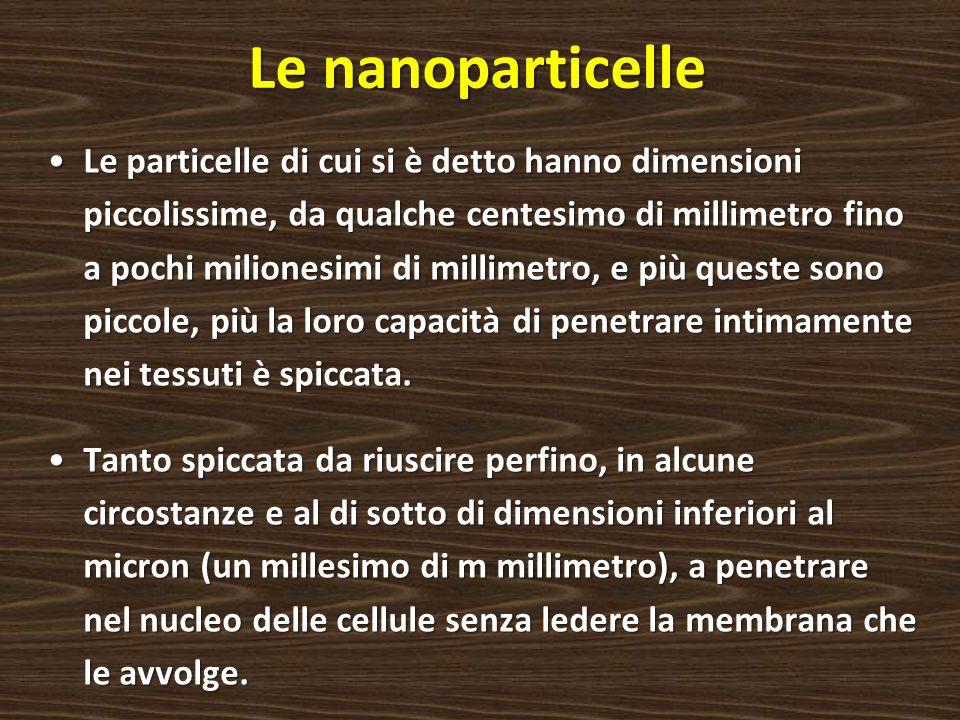 Le nanoparticelle