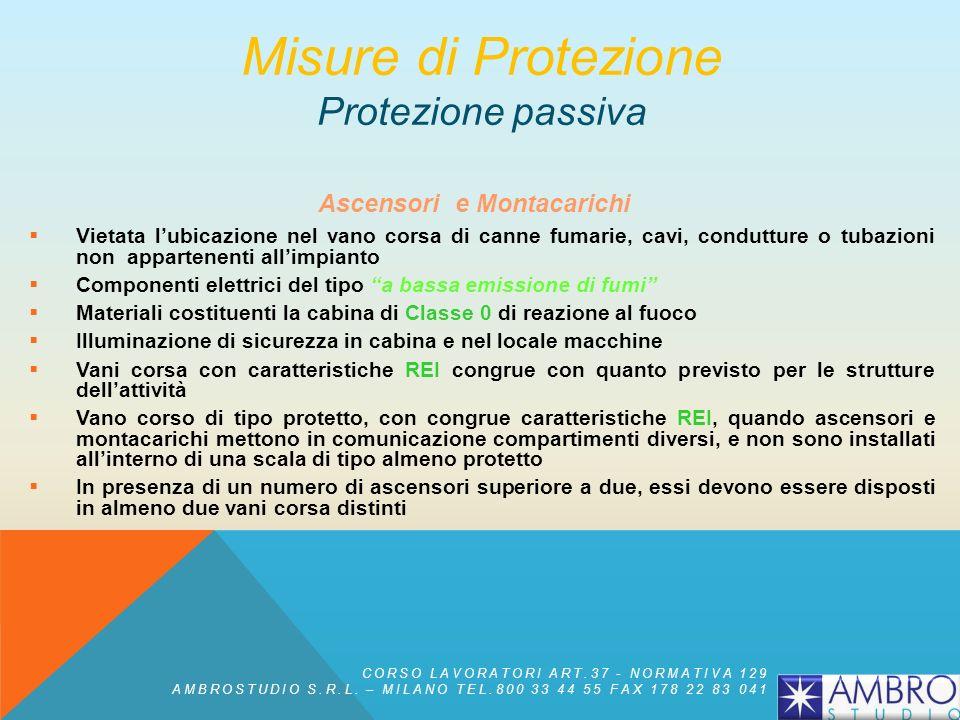 Misure di Protezione Protezione passiva