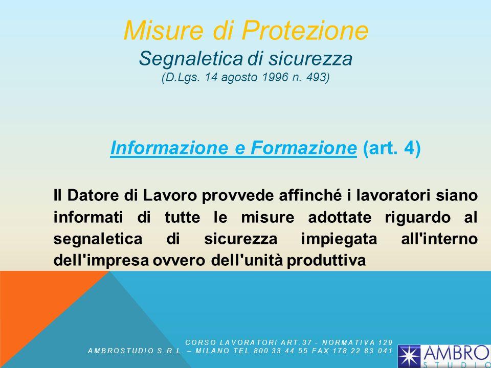 Informazione e Formazione (art. 4)