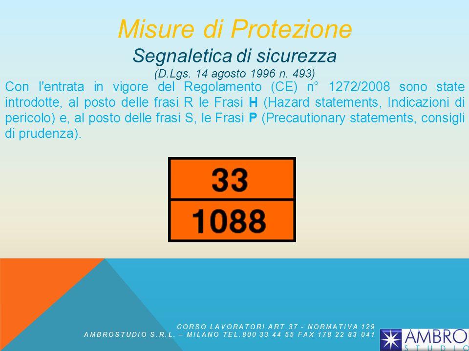Misure di Protezione Segnaletica di sicurezza (D.Lgs. 14 agosto 1996 n. 493)