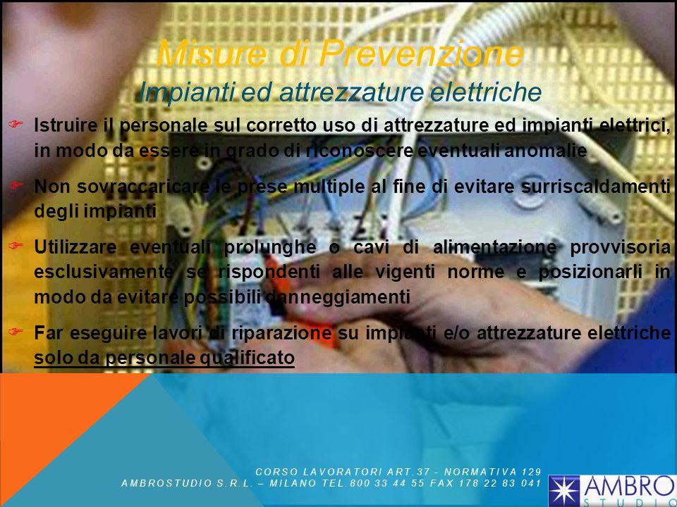 Misure di Prevenzione Impianti ed attrezzature elettriche