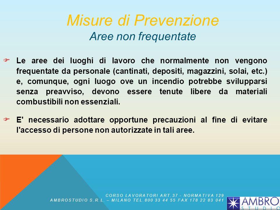 Misure di Prevenzione Aree non frequentate