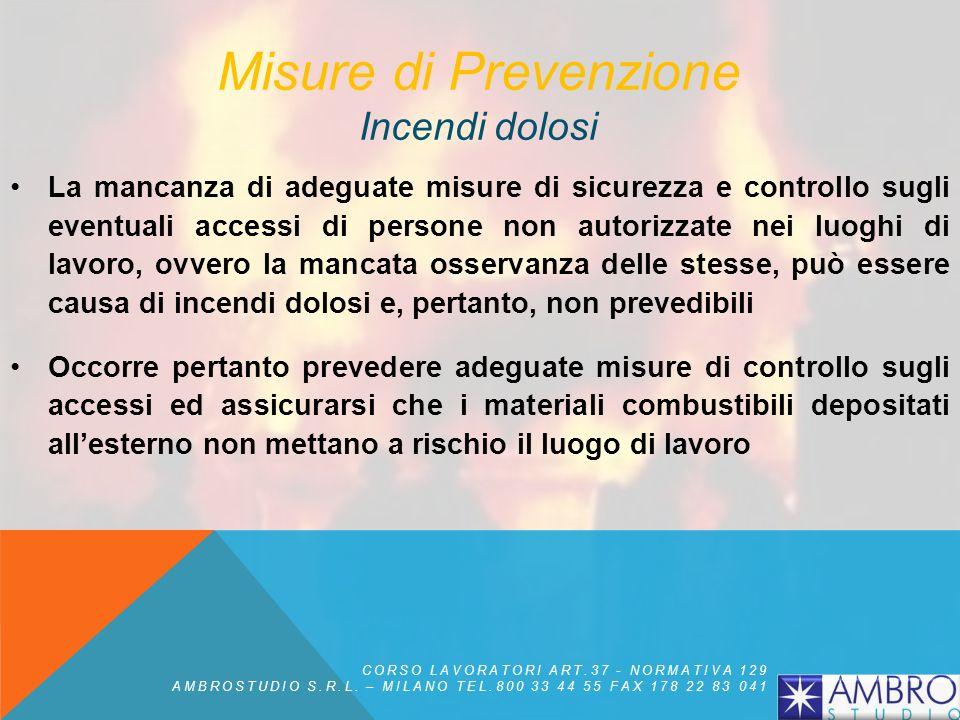 Misure di Prevenzione Incendi dolosi