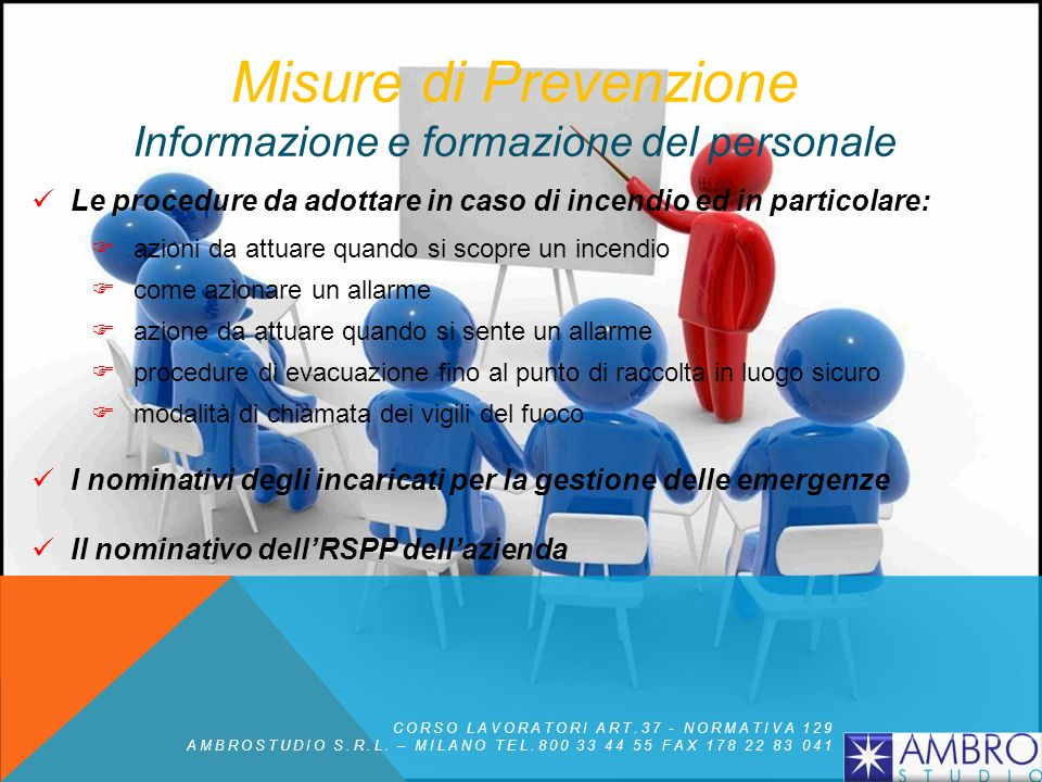 Misure di Prevenzione Informazione e formazione del personale