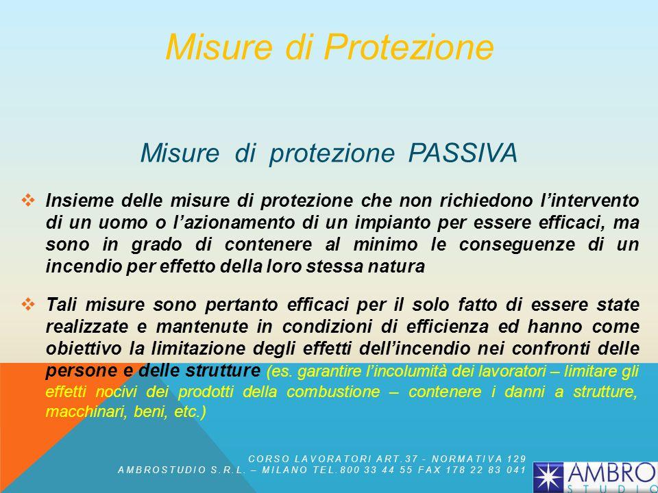 Misure di protezione PASSIVA