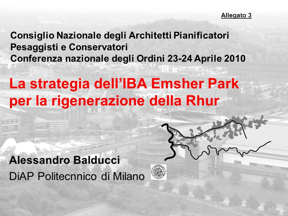 La strategia dell'IBA Emsher Park per la rigenerazione della Rhur