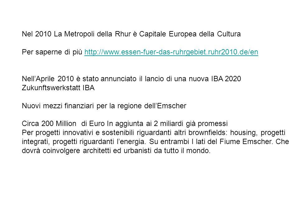 Nel 2010 La Metropoli della Rhur è Capitale Europea della Cultura
